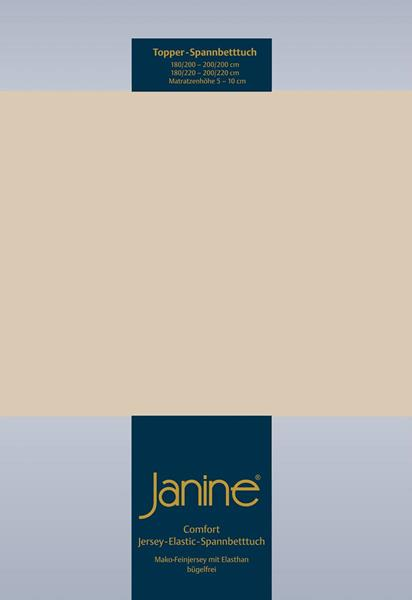 Janine Jersey Elastic Spannbetttuch für Topper Matratzen ideale Passform 29 sand
