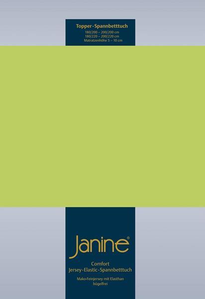 Janine Jersey Elastic Spannbetttuch für Topper Matratzen ideale Passform 56 apfelgrün
