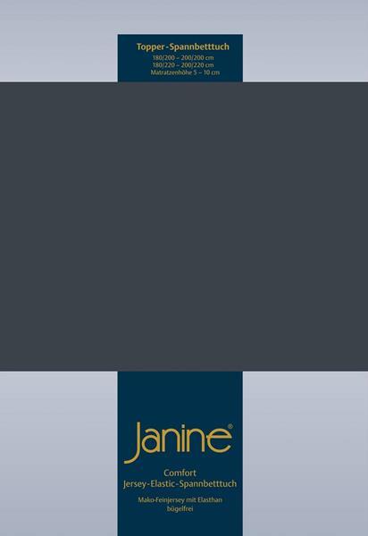 Janine Jersey Elastic Spannbetttuch für Topper Matratzen ideale Passform 78 titan