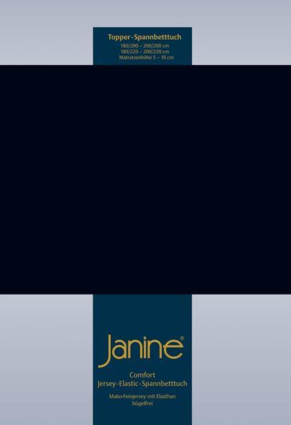 Janine Jersey Elastic Spannbetttuch für Topper Matratzen 100x200 cm