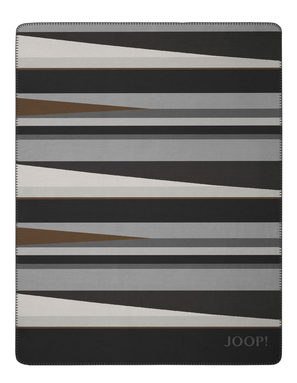JOOP! BRIGHT 150x200 cm Wohn- Sofadecke Anthrazit-Grau 731227