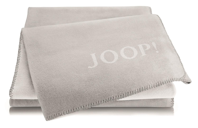 JOOP! Melange Doubleface Wohn- Kuscheldecke 150x200 cm Silber-Rauch 746764