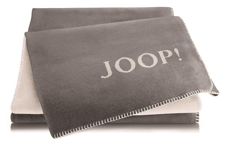 JOOP! Melange Doubleface Wohn- Kuscheldecke 150x200 cm Graphit-Ecru 739223