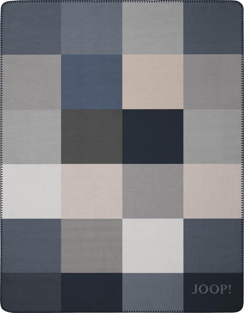 JOOP! Wohndecke Mosaic 751522 Marine-Stein 150x200 cm neue Kollektion