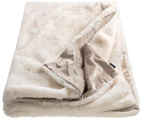 JOOP! Plaid Smooth 70692-001 weiss 130x170 cm Wendedesign weiss/beige