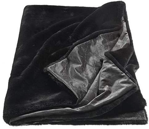 JOOP! Plaid Smooth 70692-002 schwarz 130x170 cm Wendedesign schwarz/anthrazit