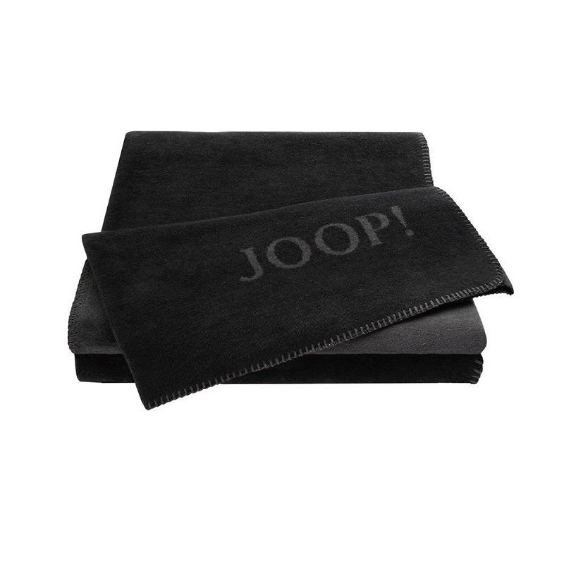 JOOP! Wohndecke Uni-Doubleface 587114 Schwarz-Anthrazit 150x200 cm