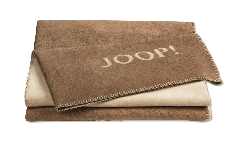 JOOP! Wohndecke Uni-Doubleface 739384 Cashew-Macchiato 150x200 cm