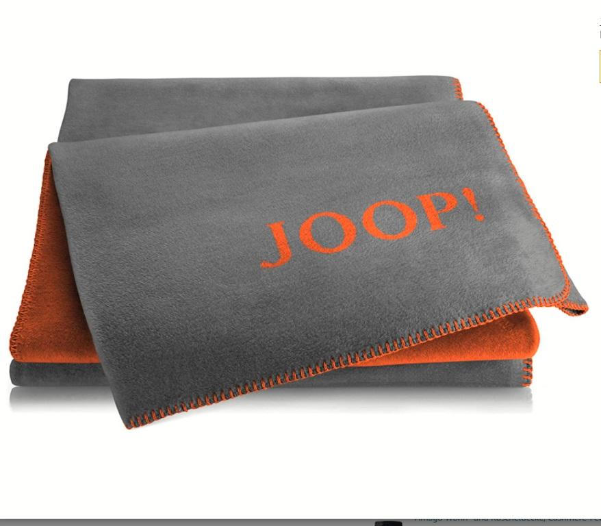 JOOP! Wohndecke Uni-Doubleface 751553 Rooibos-Graphit 150x200 cm