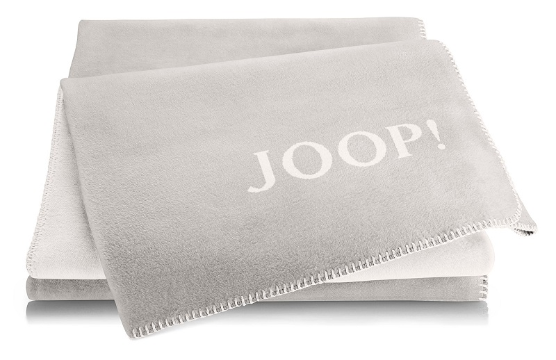 JOOP! Uni-Doubleface Wohndecke Decke Rauch-Ecru 732316 Kollektion 2019